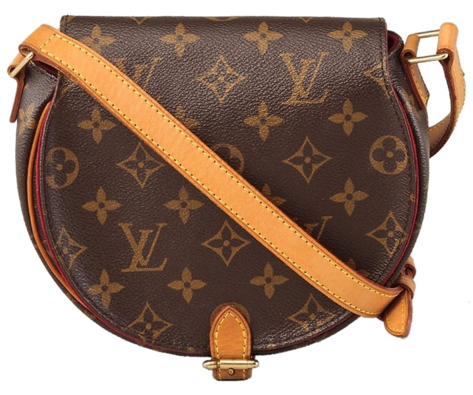 Louis Vuitton Monogram Rare Tambourline Leather Vintage Vintage Cross Body  Bag Image 0 ... 2f9502155cbf1