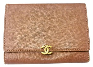 Chanel Authentic Vintage Chanel Caviar Brown Tri-Fold Wallet