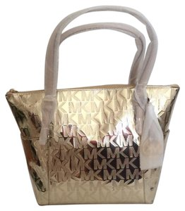 Michael Kors Nwt New With Tags Tote in Gold Metallic