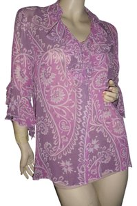 Bob Mackie Button Down Shirt lavender, purple