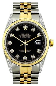 Rolex 36MM ROLEX DATEJUST GOLD S/S WATCH WITH ROLEX BOX & APPRAISAL
