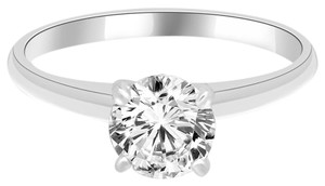 Avi and Co 1.15 ct F-G/VS-SI Round Diamond Solitaire Engagement Ring 14k White Gold