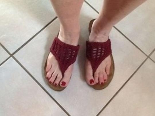 Aerosoles Burgandy Sandals
