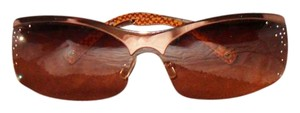 Coach Stunning and Unique Crystal Embellished Bronze / Brown Coach Sunglasses