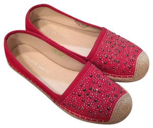 Franco Sarto Red with studs Flats