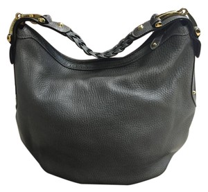 Gucci Pebbled Leather Horsebit Hobo Bag