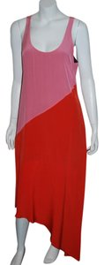 PINK/RED ORANGE Maxi Dress by Madison Marcus