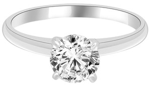 Avi and Co 1.27 ct F-G/VS-SI Round Diamond Solitaire Engagement Ring 14K White Gold
