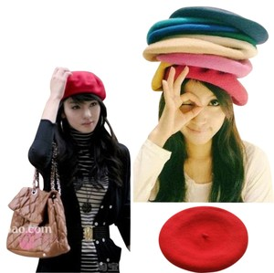 Warm Beret Fashion Wool Warm Women Felt French Beret Beanie Newsboy Berets Hat Cap Tam Hot