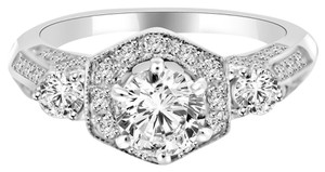 Avi and Co 2.22 cttw Round Brilliant Diamond Halo Accented Engagement Ring 14K White Gold