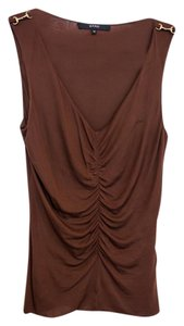 Gucci Hardware Top Gathered Brown with Metal Horsebits
