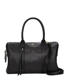 Tory Burch Crossbody Leather Winter Fall Satchel in Black