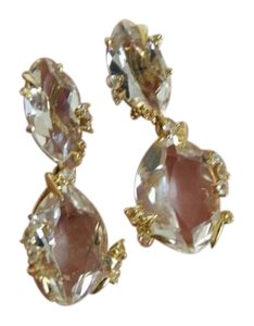 Alexis Bittar Alexis Bittar Fine Earrings 18K Golden Ice Marquis Drop Diamond