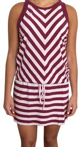 Oonagh by Nanette Lepore short dress Pink Striped Racer-back Mini Sleeveless on Tradesy