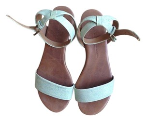 Schuler and Sons Platform Leather Mint green Sandals