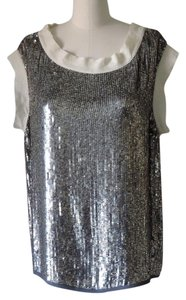 Nili Lotan Top gray sequin