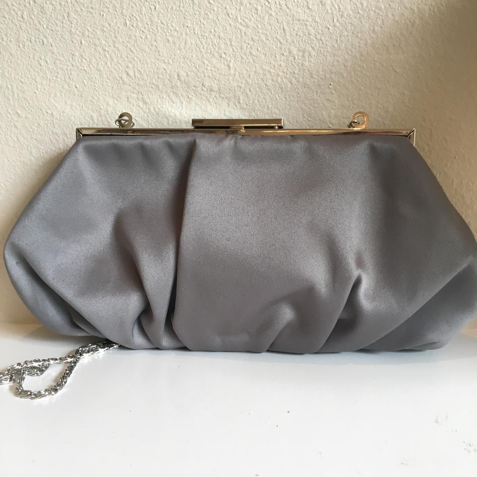 Lulu Townsend Evening Day Or Night Purse Convertible Chain Gray Clutch Tradesy