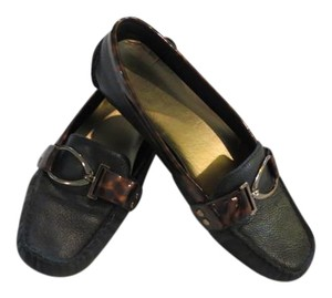 Anne Klein Leather Black and Brown Flats