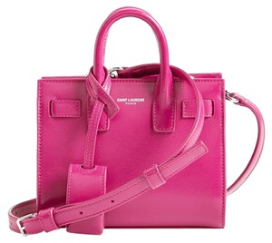 Saint Laurent Ysl Sac De Jour Handbag Satchel in Fuchsia Pink