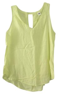Old Navy Chartreuse Office Top Yellow