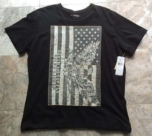 Denim & Supply Ralph Lauren Womens American Flag Eagle Patch Relaxed T Shirt Black