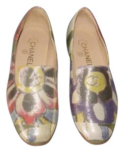 Chanel 15c Shimmer Loafers Multi-Color Flats