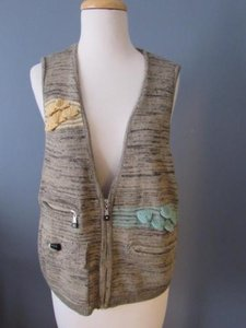 Jamie Sadock Jamie Sadock Golf Sleeveless Sweater Vest Yellow Beige