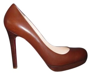 Christian Louboutin 120 Classic Brown Pumps