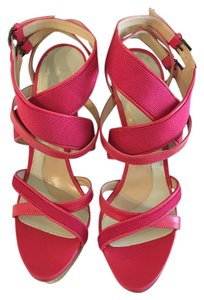 Herv Leger High Heels Fuschsia Sandals