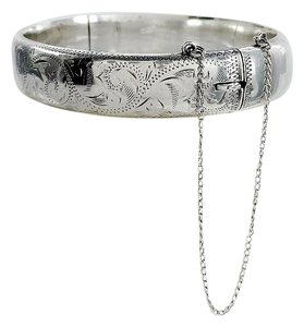 Mid Century Sterling Silver Engraved Bracelet - RPH Jewellery Co. Ltd
