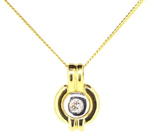Other 14K Yellow Gold 0.15Ct Diamond Pendant Necklace 5.4 Grams 18