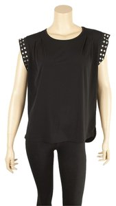Michael Kors Stretch Knit Polyester Size S Top Black