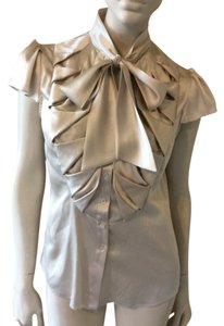 Zac Posen Top Beige