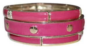 Charming Charlie Pink and Gold Bangles