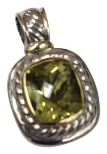 David Yurman David Yurman Large Gemstone Enhancer Sterling Silver and Gold