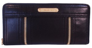 Michael Kors Moxley Zip Around Mk Continental Wallet Wallet Card Case Leather Black Clutch