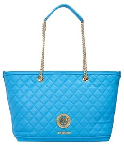 Love Moschino Sell Tote in light blue