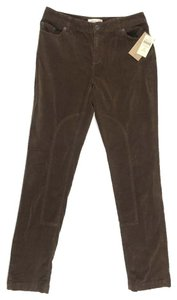 Coldwater Creek Brushed City Riding Trouser Pants Brown