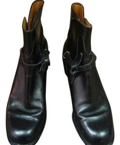 Ralph Lauren Boot Low Heel Black Boots