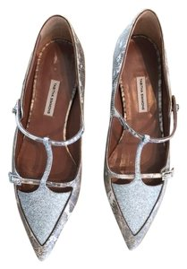 Tabitha Simmons Lizard Glitter Black, Cream, Lizard, Metallic Flats
