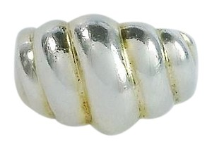 Cellini Chunky Sterling Silver Ribbed Dome Ring Size 7
