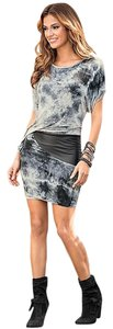 VENUS short dress Gray/Black Print Tie Dye on Tradesy