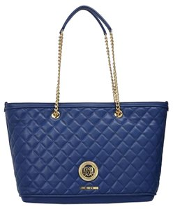 Love Moschino Sell Tote in blue