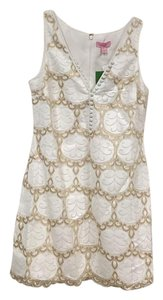 Lilly Pulitzer short dress White, Gold on Tradesy