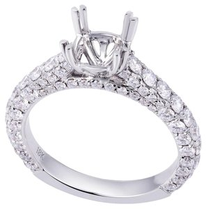 Avi and Co 2.10 cttw Round Diamond Designer Engagement Semi-Mounting 18K White Gold