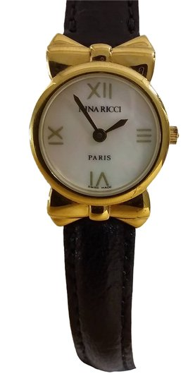 Preload https://item3.tradesy.com/images/nina-ricci-black-and-gold-genuine-plated-in-box-watch-1516957-0-0.jpg?width=440&height=440