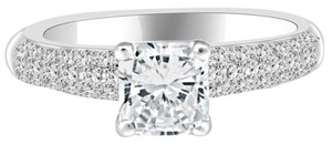 Avi and Co 1.52 cttw Radiant Cut Diamond Micro-Pave Engagement Ring in 14K White Gold
