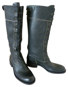 BCBGMAXAZRIA Pebbled Leather Black Boots