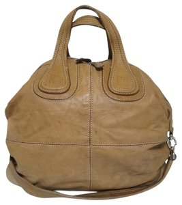 Givenchy Nightingale Leather Satchel in Camel