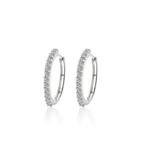 Avital & Co Jewelry 0.75 Carat Diamond Eternity Hoop Earrings 14k White Gold